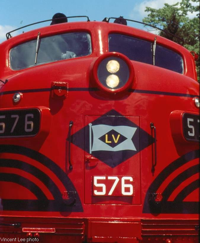 A close up of the nose of the 576 as it idles at Ridgewood. The 576 shared  the same adventure as the 578, it was purchased in 1983 as the 417 and ...